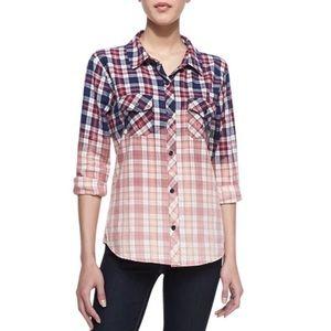 Rails Gia Ombre Plaid Flannel Button-Down Shirt